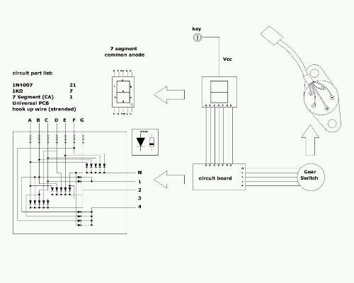 DIY, Indikator gigi digital pakai 7segment utk New Vixion