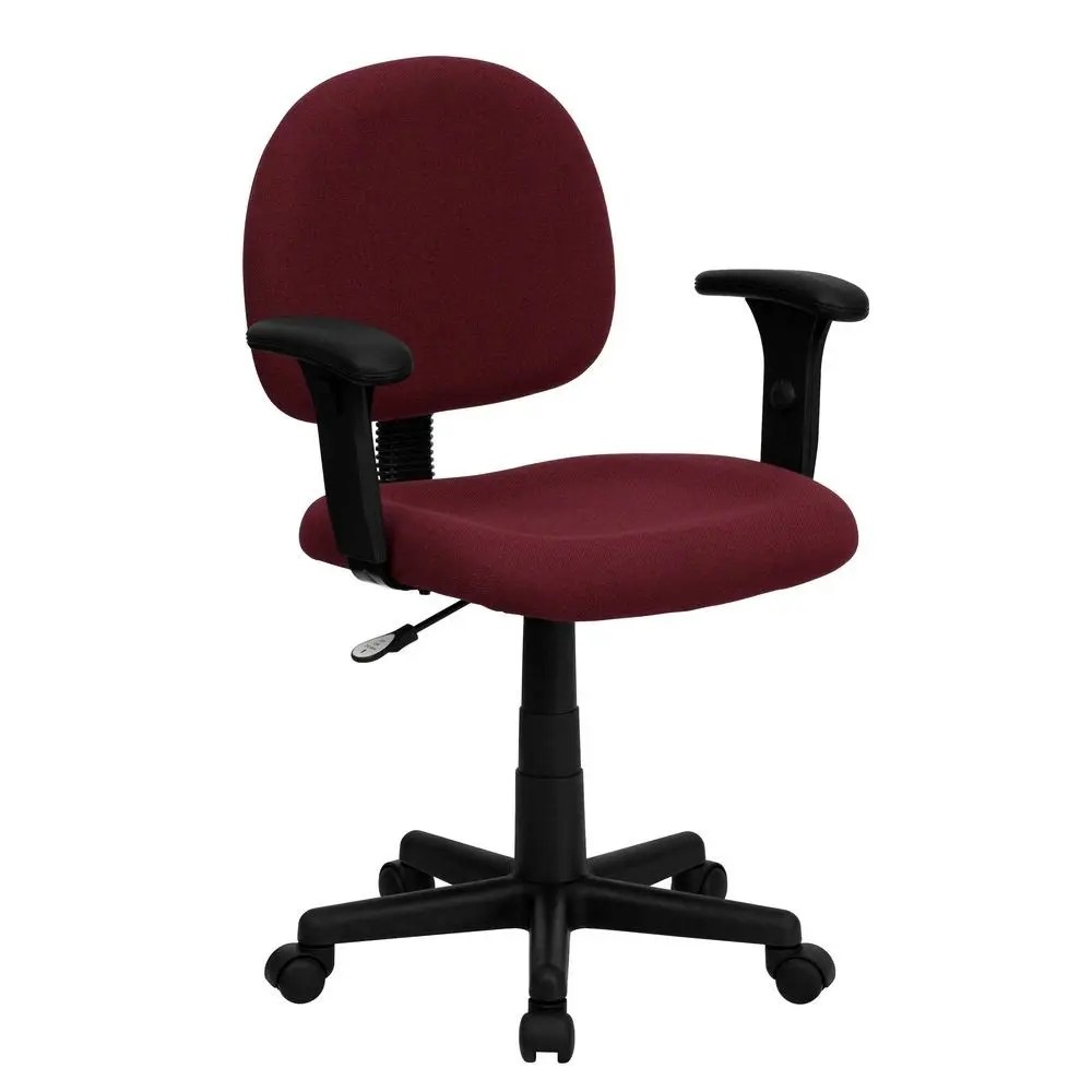Burgundy Office Chair Flash Furniture Bt 660 1 By Gg Mid Back Ergonomic Burgundy