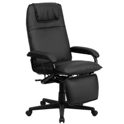Recliner Office Chair Nz Best Portable Flash Furniture Bt 70172 Bk Gg High Back Black Leather