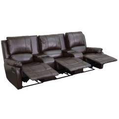 Theater Recliner Chairs Cafeteria Tables And Flash Furniture Bt 70295 3 Brn Gg Brown Leather Home