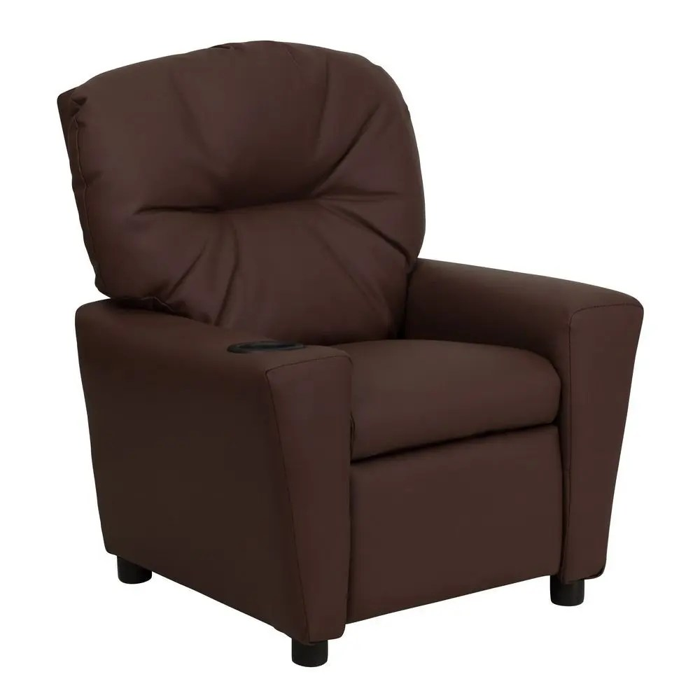 Kids Reclining Chair Flash Furniture Bt 7950 Kid Brn Lea Gg Contemporary Brown
