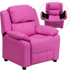 Kid Recliner Chair Office Mat Walmart Flash Furniture Bt 7985 Hot Pink Gg Deluxe Heavily