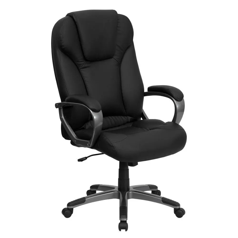 black leather office chair high back armchair cushion for bed flash furniture bt 9066 bk gg