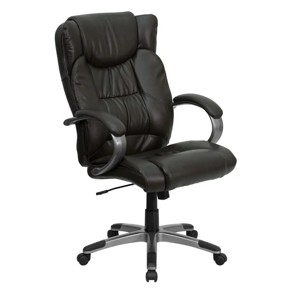 executive brown leather office chairs silver accent chair flash furniture bt 9088 brn gg high back espresso