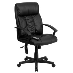 Black Leather Office Chair High Back Swing Green Flash Furniture Bt 9578p Gg Massaging