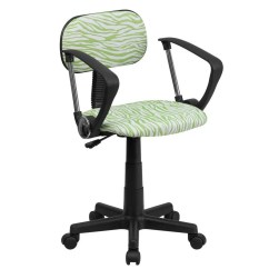 Green Computer Chair Swivel Seat Covers Flash Furniture Bt Z Gn A Gg And White Zebra Print