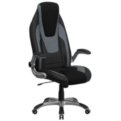 Executive Mesh Office Chair Blue Barrel Flash Furniture Ch Cx0326h02 Gg High Back Black And Gray