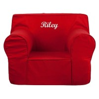 Flash Furniture DG-LGE-CH-KID-SOLID-RED-GG Oversized Solid ...