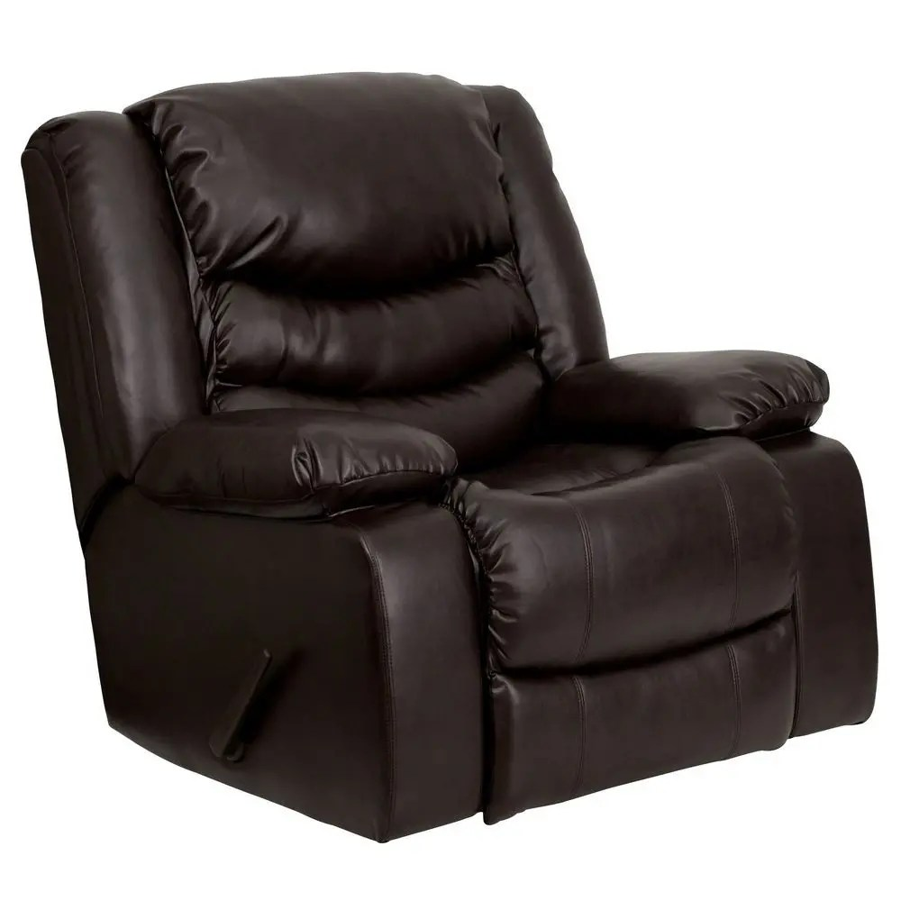 Best Leather Chairs Flash Furniture Men Dsc01078 Brn Gg Plush Brown Leather
