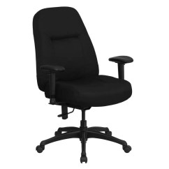 Office Chair With Adjustable Arms Gaming Racer Flash Furniture 400 Lb High Back Big And Tall Black Fabric