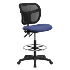Navy Chair Stool Ikea Ekhard Covers Flash Furniture Wl A7671syg Nvy D Gg Mid Back Mesh