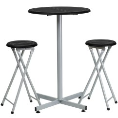 Bar Height Table And Chairs Set Oversized Gravity Chair With Cup Holder Flash Furniture Yb Yj987 Gg Stool