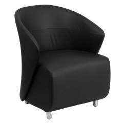 Black Leather Reception Chairs Baby Sitting Chair India Flash Furniture Zb 1 Gg