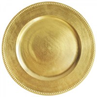 The Jay Companies GBCP Gold Round Acrylic Beaded Charger ...