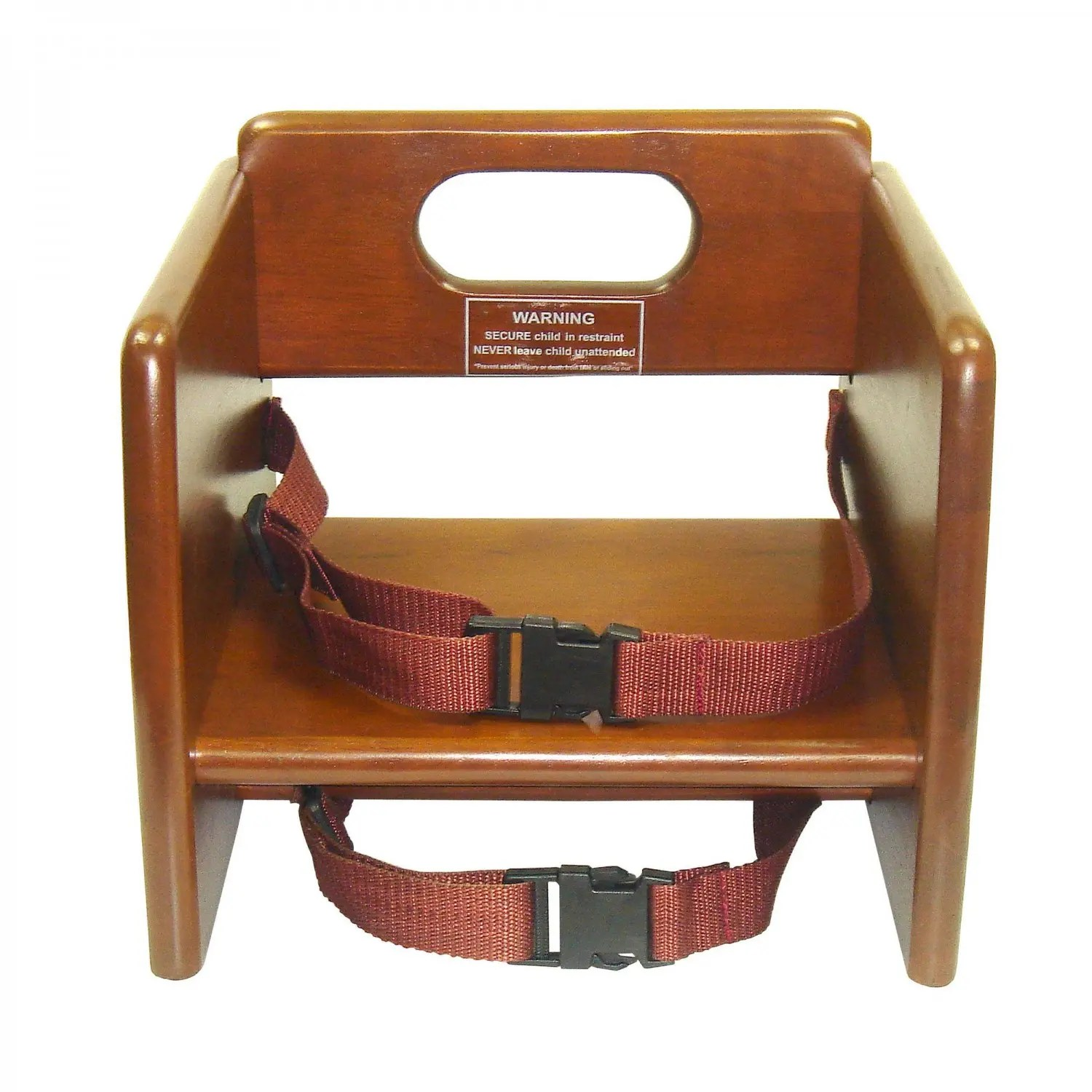 booster seat straps to chair rent wedding chairs and tables winco chb 704 stacking wood with waist