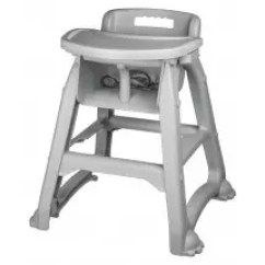 Restaurant High Chair With Tray Outdoor Directors Chairs Canvas Winco Chh 25 Plastic