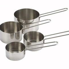 Kitchen Measuring Tools Island Table Ideas Cups Spoons Winco Mcp 4p Stainless Steel 4 Piece Cup Set
