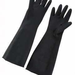 Kitchen Gloves Havertys Tables Dishwashing Winco Nlg 1018 Black Natural Latex