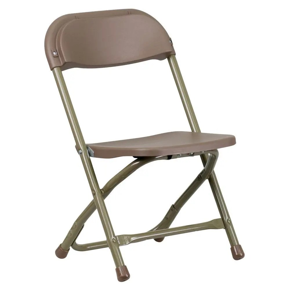 Kids Folding Chair Flash Furniture Y Kid Bn Gg Kids Brown Plastic Folding