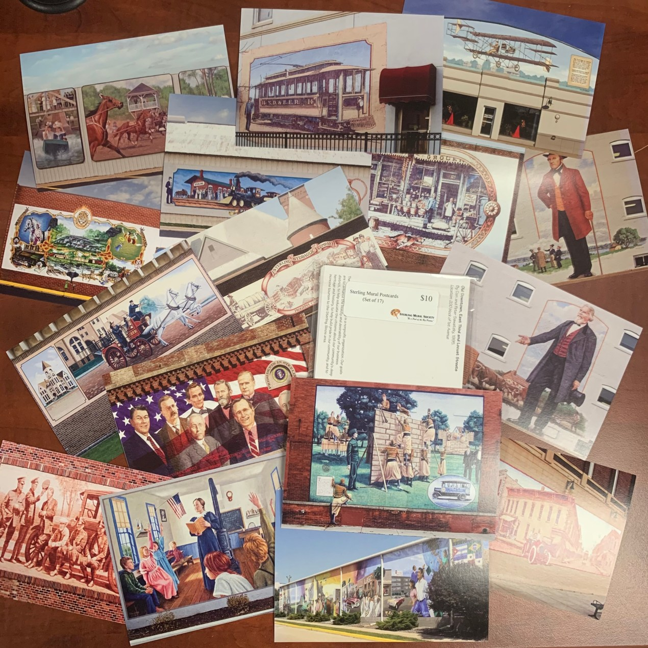 Postcard Set of 17 - Murals