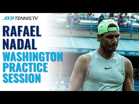 Rafael Nadal Practice Session | Washington 2021 Highlights