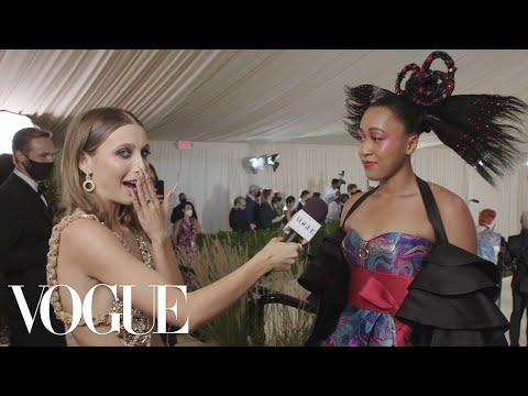 Naomi Osaka on Her First Met Gala   Met Gala 2021 With Emma Chamberlain   Vogue