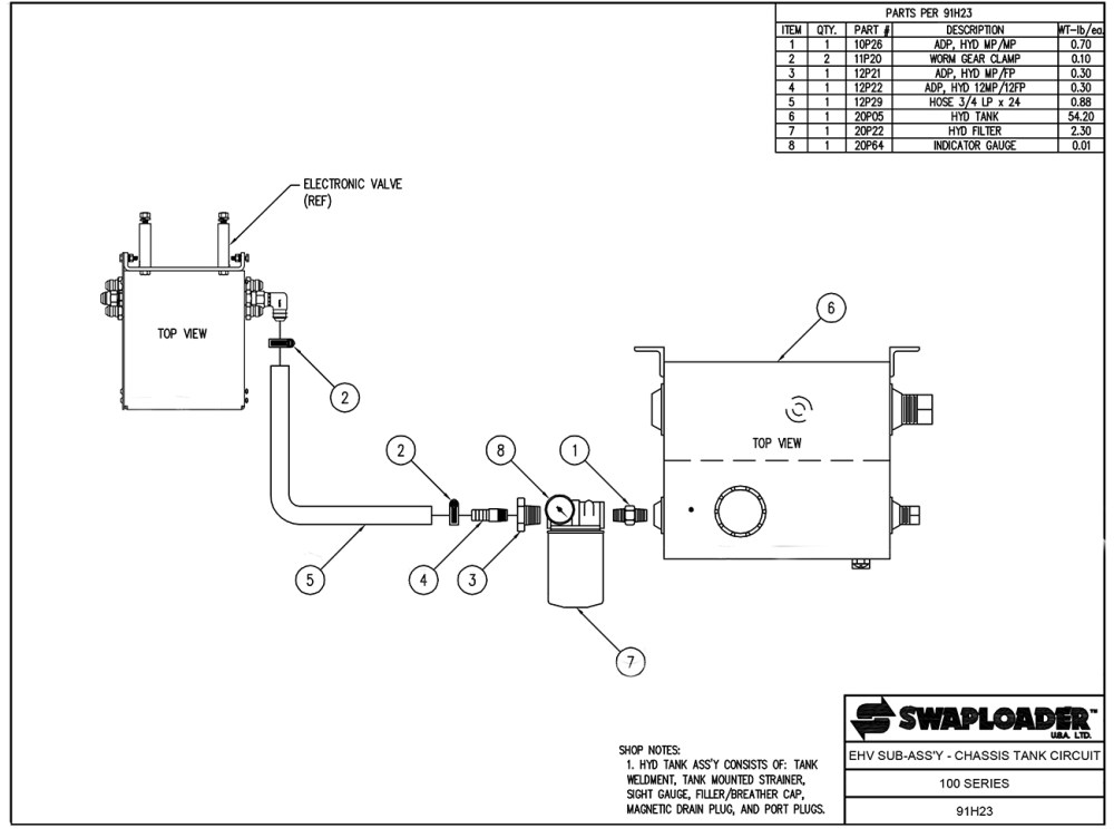 medium resolution of 100 series ehv sub assembly chassis tank circuit diagram