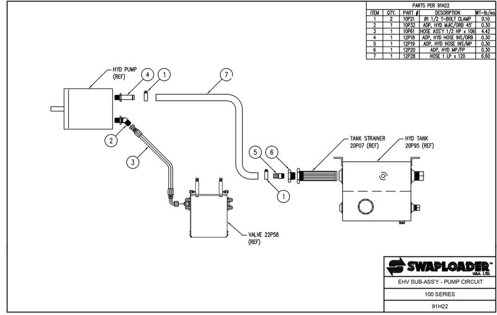 medium resolution of 100 series ehv sub assembly pump circuit diagram