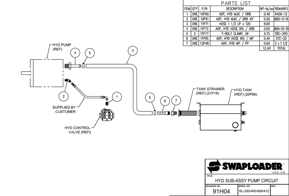 medium resolution of 400 series hydraulic sub assembly pump circuit diagram