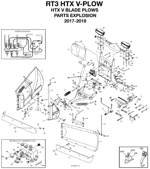BOSS RT3 HTX V-Blade Parts Diagram From ITEParts.com