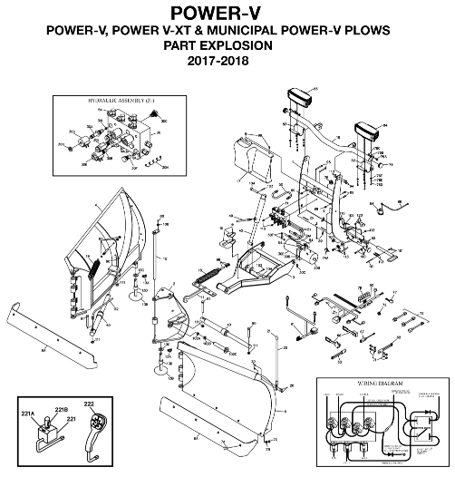 BOSS Power-V and Power-V XT Parts Diagram From ITEParts.com