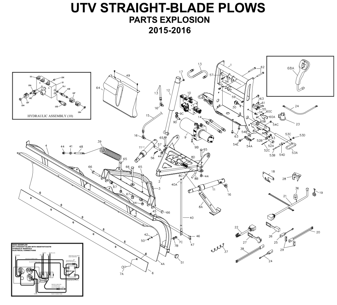 Boss Utv Straight Blade Parts Diagrams From Iteparts