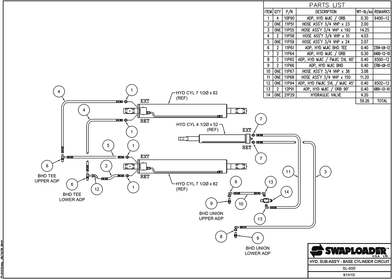 hight resolution of sl 650 hydraulic sub assembly base cylinder circuit diagram