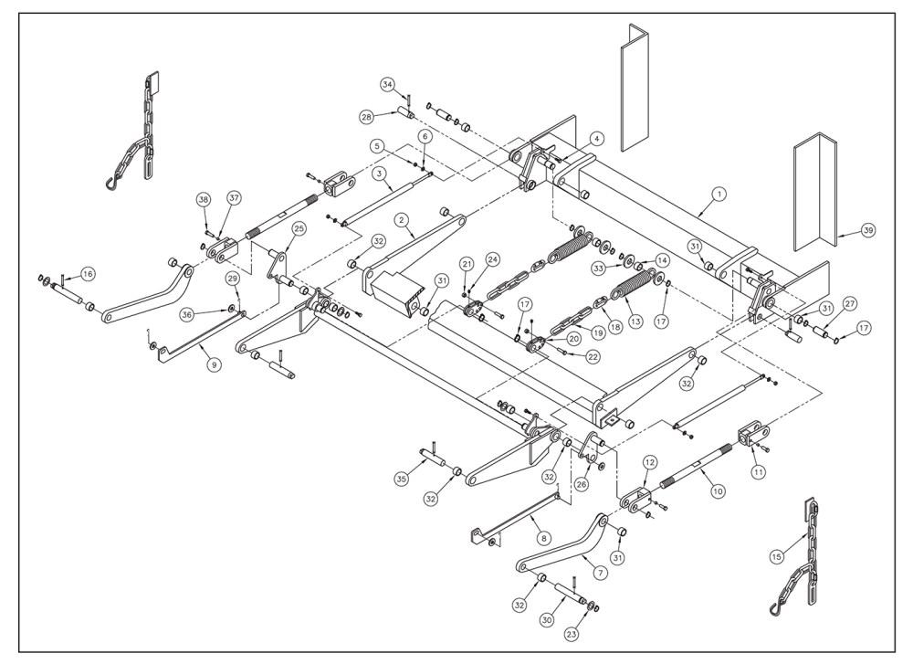 medium resolution of sl15 est sl20 est trunnion lift arm idler arm assembly 10 diagram