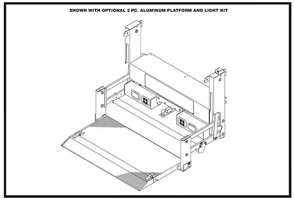 Thieman Tailgates Pickup & Service Body Liftgate Diagrams