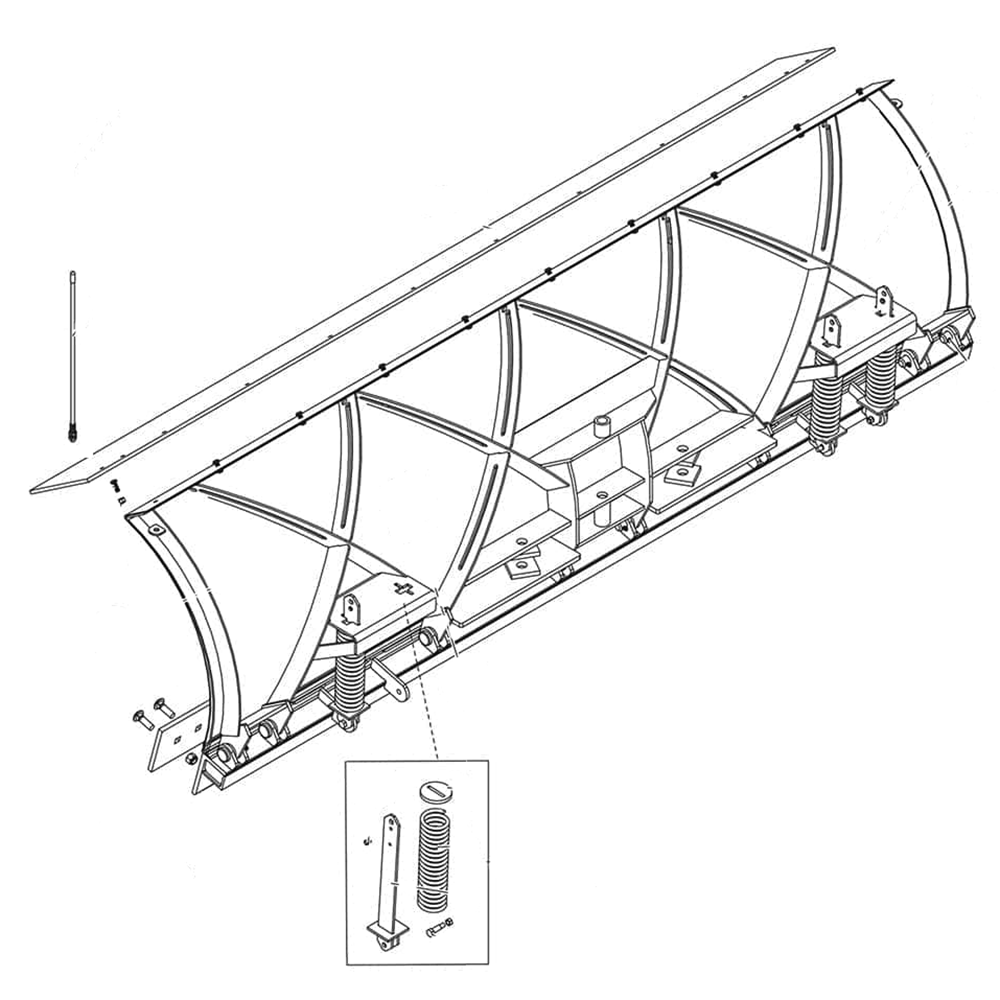 hight resolution of fisher xblade straight blade diagram