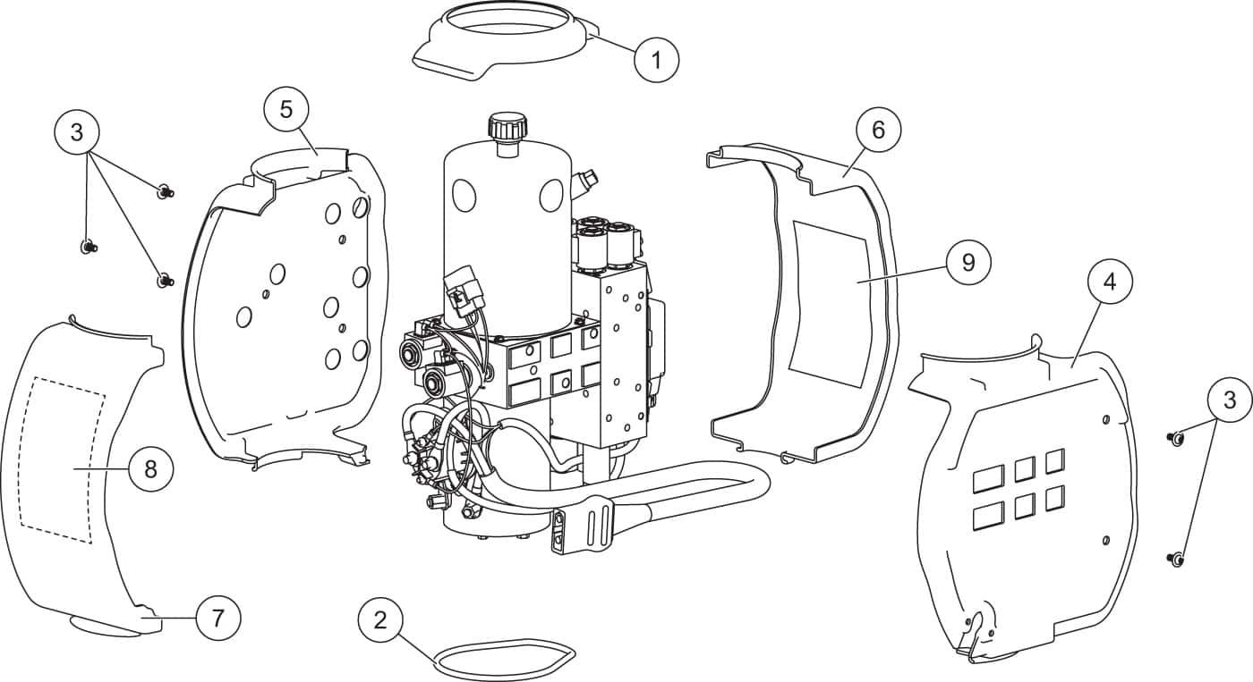 hight resolution of xls hydraulic unit cover assembly diagram