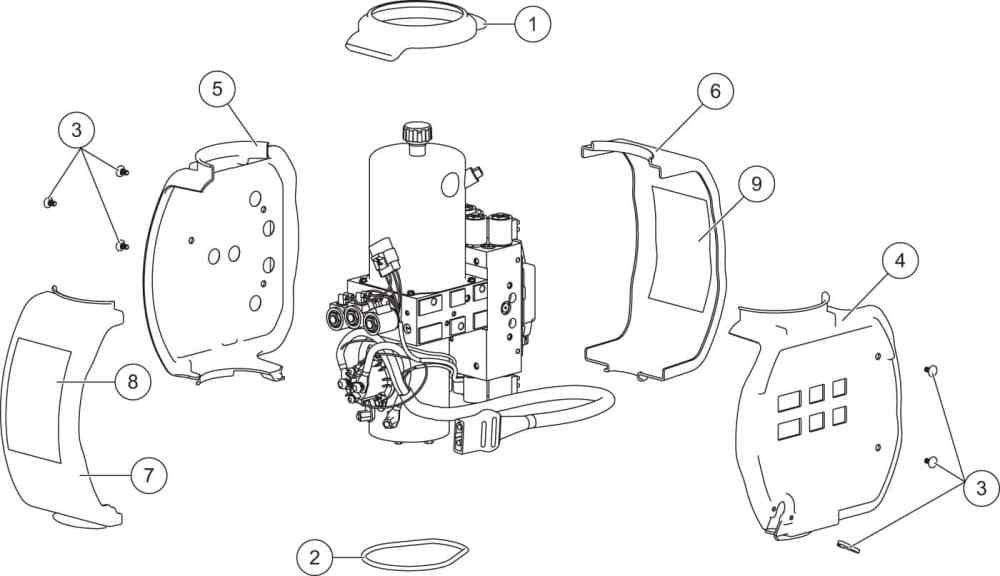 medium resolution of xv2 hydraulic unit cover assembly diagram