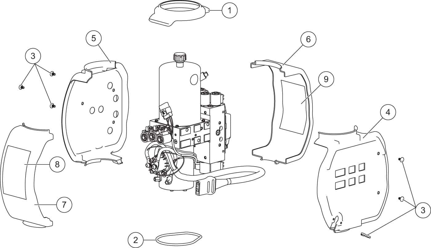 hight resolution of xv2 hydraulic unit cover assembly diagram