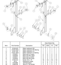 all aluminum tvl 125 16 125a 16a slider assembly diagram [ 1009 x 1400 Pixel ]