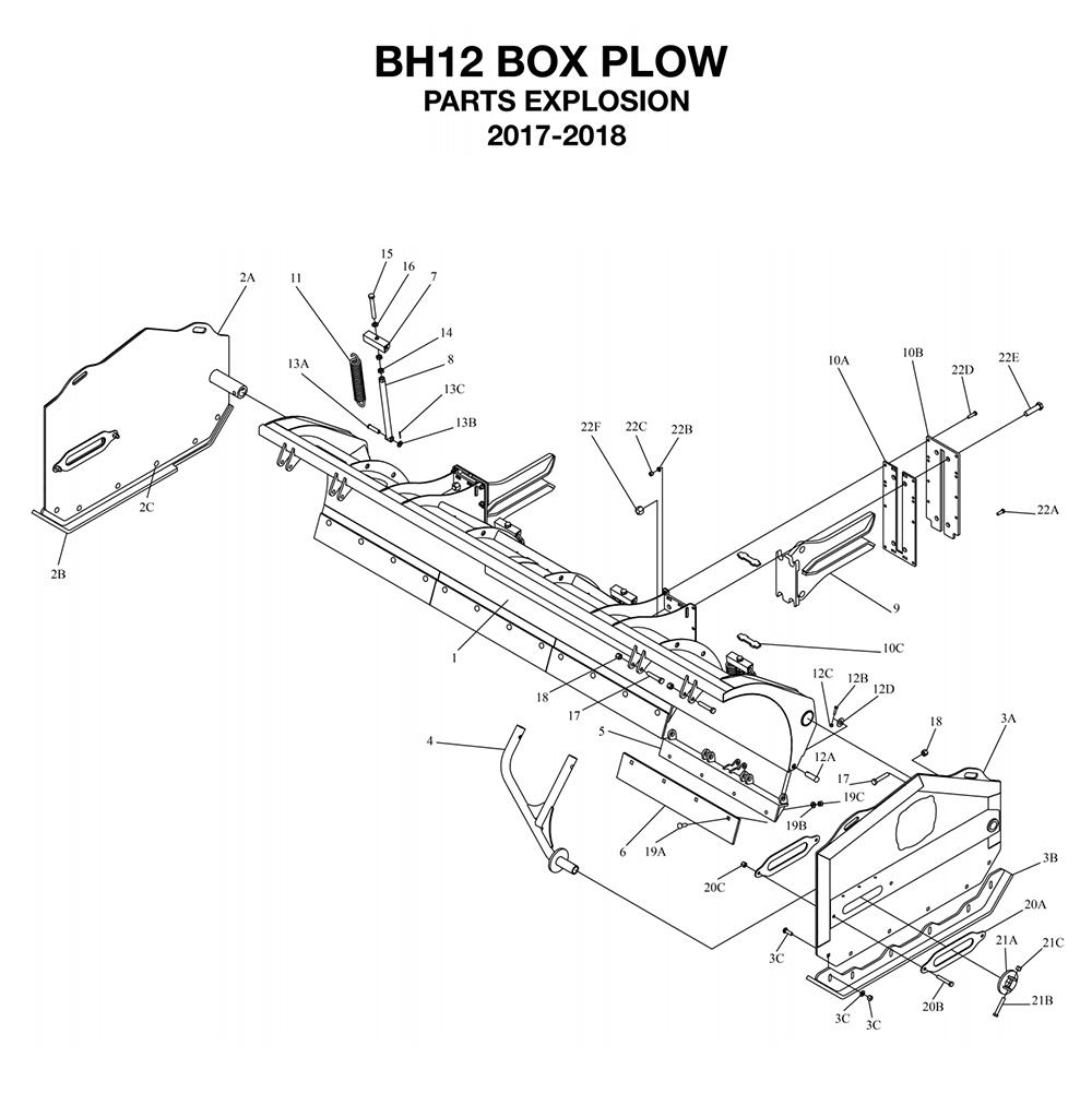 BOSS LDR Series Box Plow Parts Diagrams From ITEParts.com