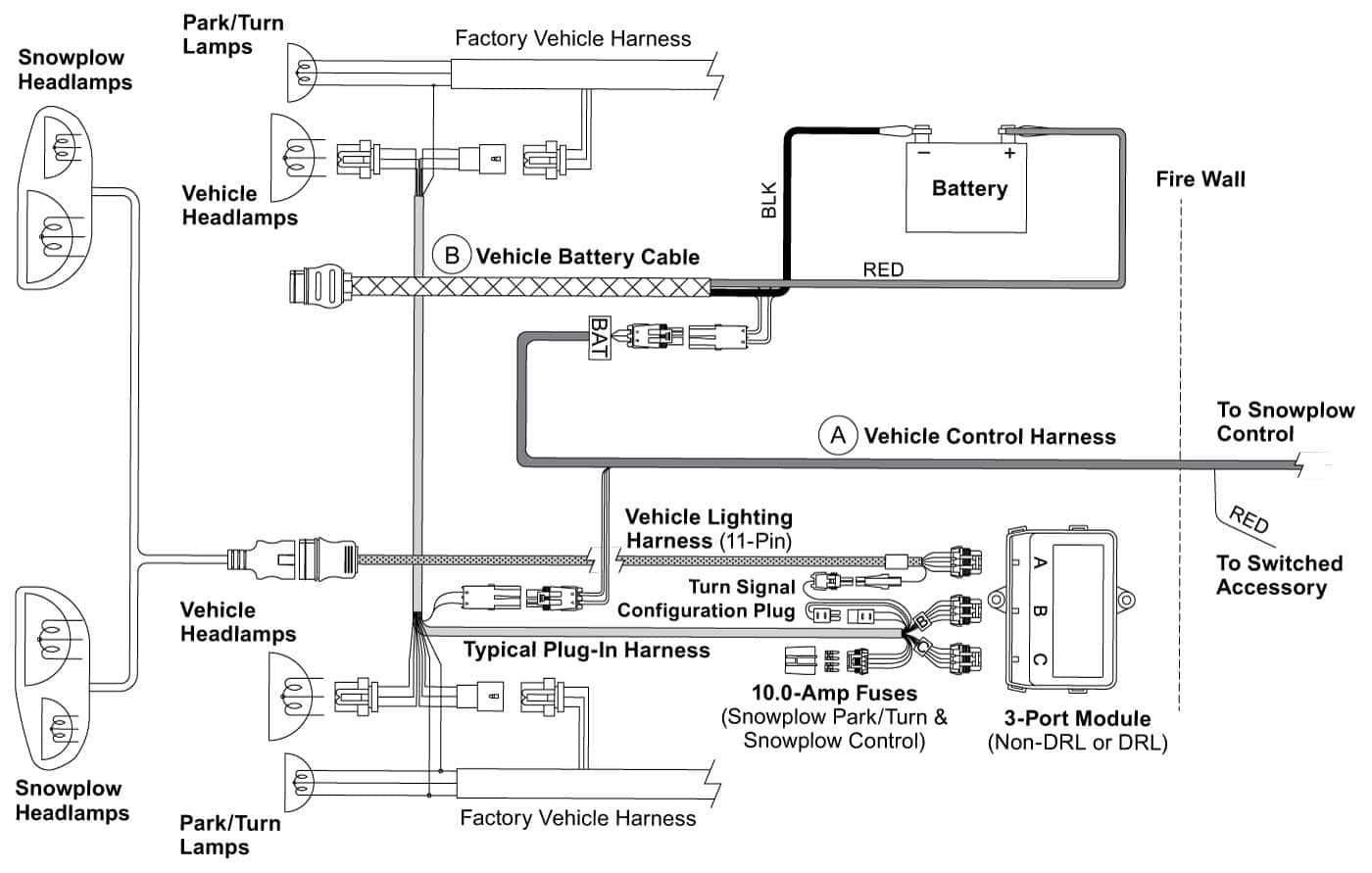 snow plow wiring harness repair
