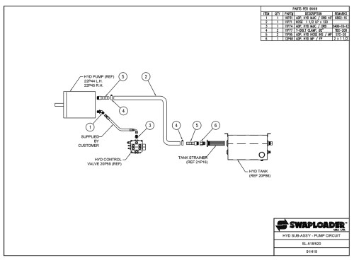 small resolution of sl 518 520 hydraulic sub assembly pump circuit diagram