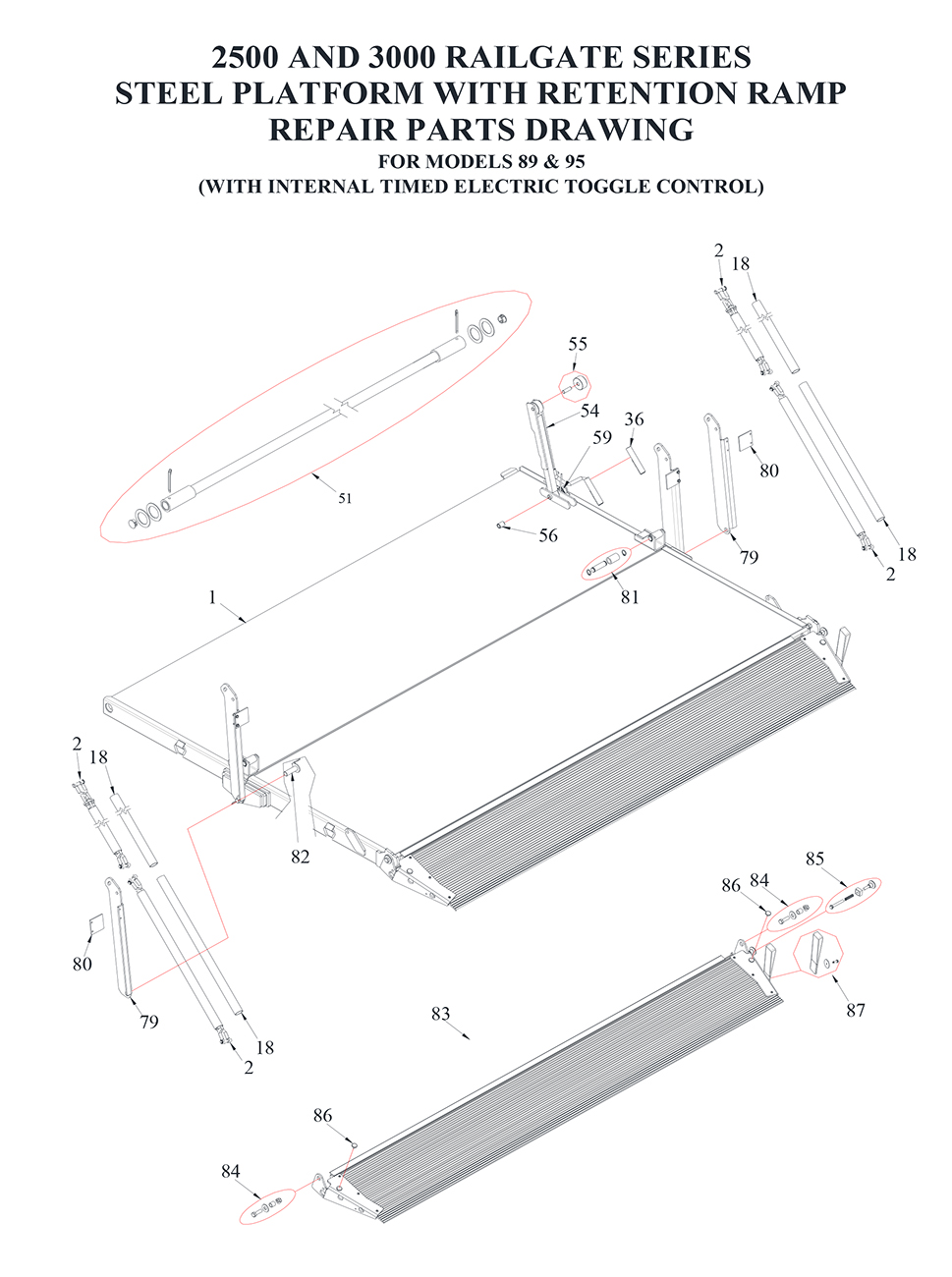 hight resolution of tommy gate railgate series bi fold diagram 2 of 2 flatbed
