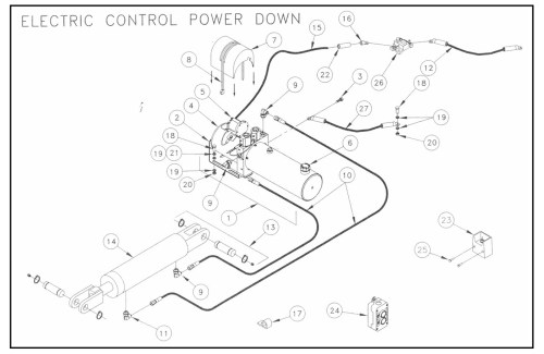 small resolution of twl125 16 20 pump assembly electric control power down diagram