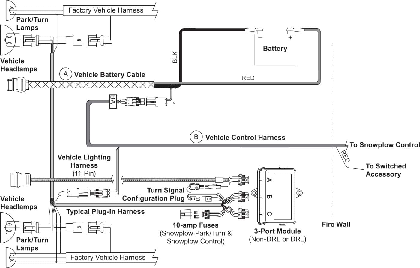 hight resolution of  snow plow wiring diagram xv2 vehicle side harness 3 port 2 plug diagram