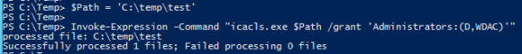 Use Legacy Executable with PowerSell - IcaCls Invoke-Expression