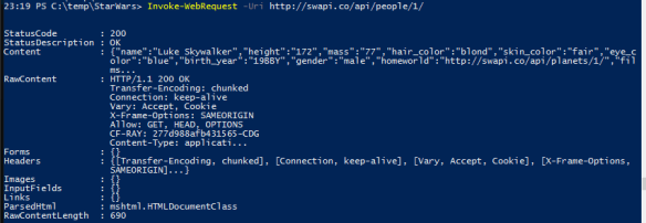 Active Directory Star Wars Users - WepAPI with PowerShell