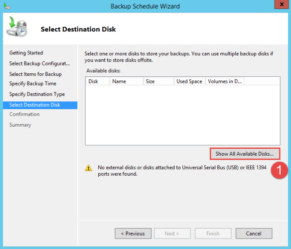 Configure Active Directory Backup - Schedule Backup 8