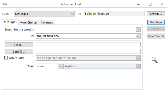 Outlook Search - Advanced Search